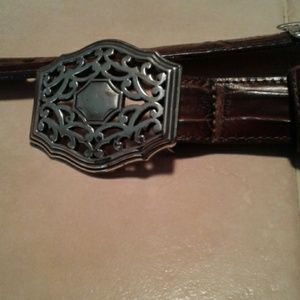 Brighton Brown Leather Belt Size Large 34
